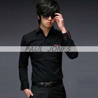 NEW COOL CASUAL MENS LUXURY DRESS&SHIRTS KOREA OR