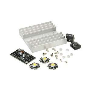 High Power White LED 1W with Heatsink & Driver 3 Pcs