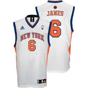 LeBron James Youth Jersey adidas White Replica #6 New York Knicks