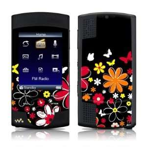 Lauries Garden Design Protective Skin Decal Sticker for Sony Walkman S