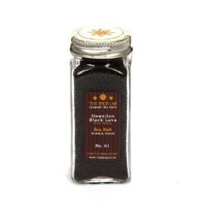 Hawaiian Black Lava (Kilauea) (Fine) Sea Salt   in Spice Bottle