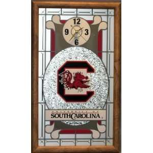South Carolina Gamecocks Stained Glass Wall Clock