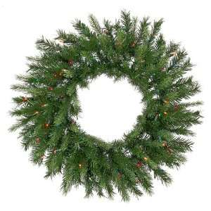 30 Pre Lit Tiffany Spruce Artificial Christmas Wreath