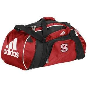 adidas North Carolina State Wolfpack Red Team Logo Gym Duffel Bag