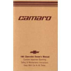 1981 CHEVROLET CAMARO Owners Manual User Guide
