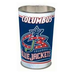 Columbus Blue Jackets NHL 15 Inches Metal Trash Can/Waste