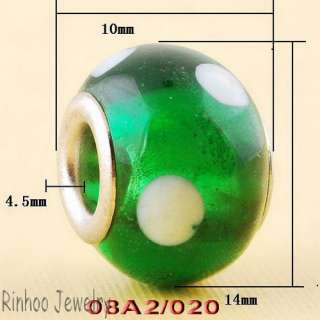 Spots Lampwork Murano Glass Spacer Charms Beads Jewelry Finds