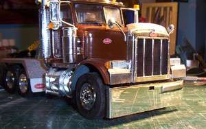 HIGHLY POLISHED 1/24th ALUMINUM TEXAS STYLE BUMPER PETERBILT KENWORTH