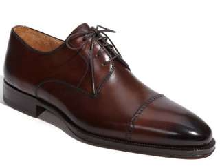 Magnanni Mens Romas wingtip Oxford lace up Shoes 8.5 Derby Burnished