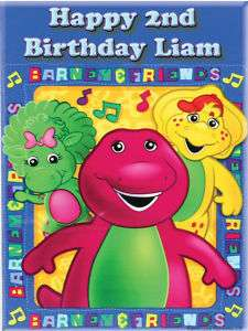 BARNEY Edible CAKE Image Icing Topper Birthday.