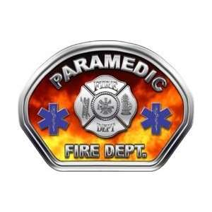 Firefighter Fire Helmet Front Face Paramedic Real Fire Decal