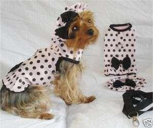 DOG CLOTHING APPAREL DRESS HARNESS HAT NEW XS S