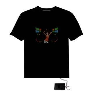 Sound Activated Disco Dancing LED EL Equalizer T Shirt