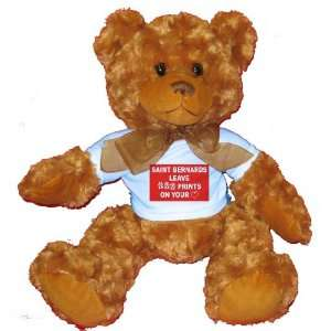 PRINTS ON YOUR HEART Plush Teddy Bear with BLUE T Shirt Toys & Games