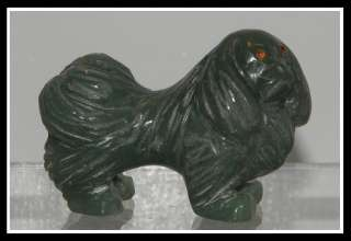 Antique Chinese Jade Shih Tzu Dog Sculpture NR