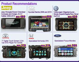 Free Camera+Touch Screen 7 2 Din In Car DVD Player Radio Steering