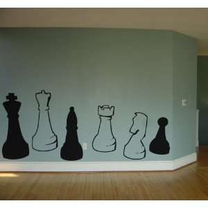 Chess Pieces Wall Art Decal Home Decor