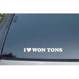 I Love Won Tons Vinyl Decal Stickers