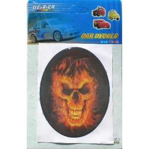 Automotive Vinyl Decal Sticker Car Truck Flaming Skull