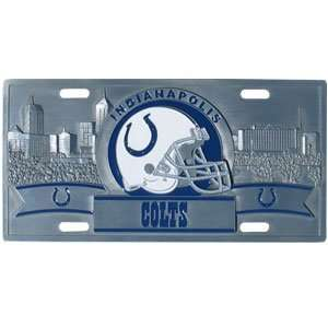 Indianapolis Colts 3D License Plate   NFL Football Fan