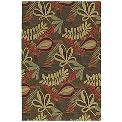 Home and Porch Indoor/ Outdoor Brown Rug (2 x 3)