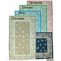 Paisley Floral Indoor/ Outdoor Area Rug (53 x 76)