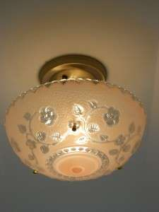 30s 3 Chain Vintage Art Deco Antique Chandelier, Ceiling light