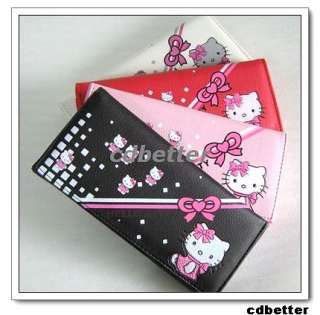 Girls Womens Kitty Cat PU Clutch Long Wallets Purse NEW