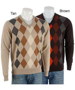 Toscano Mens Diamond V neck Sweater