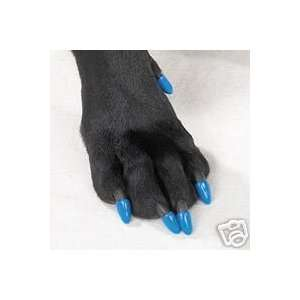 Soft Claw Paw Nail Caps DOGS K9 Size LARGE in BLUE