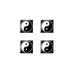Yin Yang Symbol   Set of 4 Badge Stickers Electronics