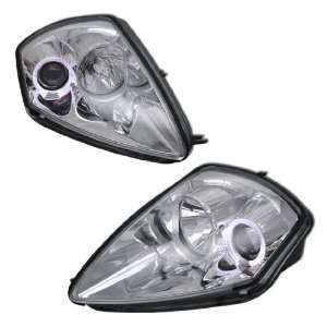 00 05 MITSUBISHI ECLIPSE PROJECTOR HEADLIGHTS CHROME