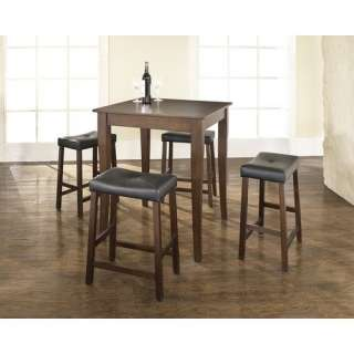 Crosley Five Piece Pub Dining Set with Cabriole Leg Table