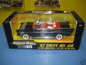 AMERICAN MUSCLE ERTL 57 CHEVY BEL AIR 118 NIB