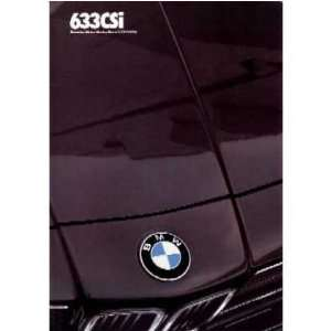 1983 BMW 633 CSI Sales Brochure Literature Book Piece Automotive