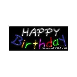 Happy Birthday Business LED Sign
