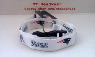 OFFICIAL LICENSED NFL LANYARD ***NEW ENGLAND PATRIOTS WHITE