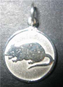 Silver Year of Rat Pendant Chinese Zodiac Jewelry