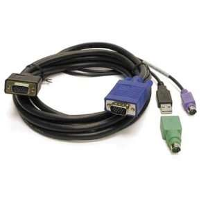 Linkskey 6ft Slim 3 in 1 High Quality USB/PS2 KVM Combo