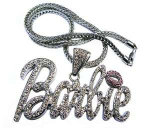 Nicki Minaj Iced Out BARBIE Pendant Necklace Large w/20 Franco