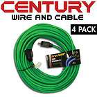 100 12/3AWG SJTW Pro Heavy Duty Power Extension Cord, Green 4 Pack