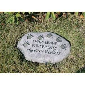 Evergreen 84576 Garden Stone, Dogs Leave Paw Prints on Our
