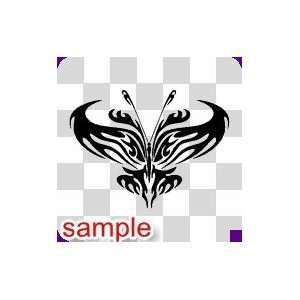 TRIBAL TRIBAL BUTTERFLY 39 10 WHITE VINYL DECAL STICKER
