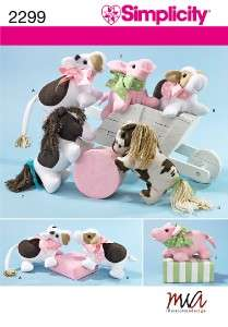 PLUSH STUFFED ANIMAL TOY PATTERN Cow Pig Horse Pony