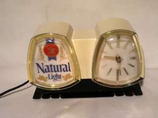 N8 NATURAL LIGHT BEER SIGN LIGHTED CLOCK CASH REGISTER ANHEUSER BUSCH