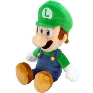 New Super Mario Bros. Wii 6 Inch Plush Sitting Luigi  Toys & Games