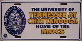 NCAA Aluminum License Plate Tennessee Chattanooga MOCS