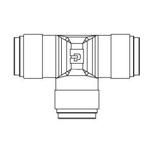 Parker Hannifin 3/8 Air Brake Union Tee