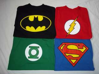 Shirt DC Comics Batman Flash Green Lantern Superman