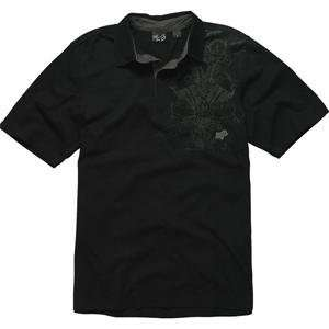 Fox Racing RSVP Polo Shirt   Medium/Black Automotive